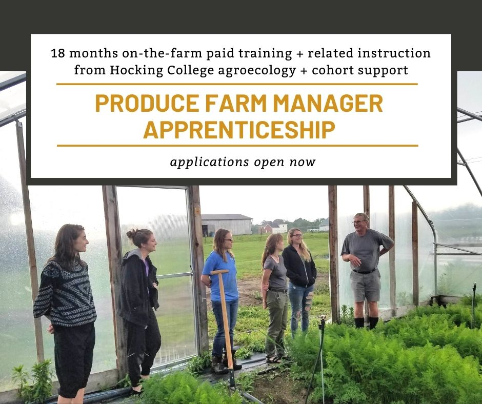 apprentices learn from farmer